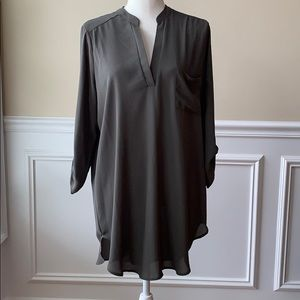 Olive Green Lush Dressy Tunic Top